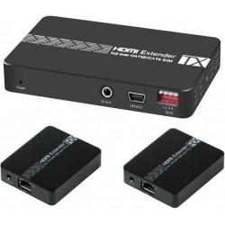 Splitter HDMI 1X2 con 2 Extender HDMI  3D 1080p@60Hz