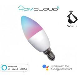 Lampadina Wi-FI RGB+BIANCO CALDO Dimmerabile E14