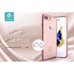 Cover Devia Glitter Soft per iPhone 7 & 8 Plus Rose Gold