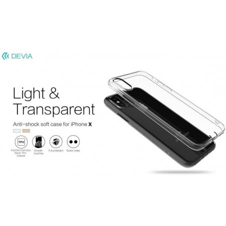 Cover TPU Soft Protezione per iPhone X con Antipolvere