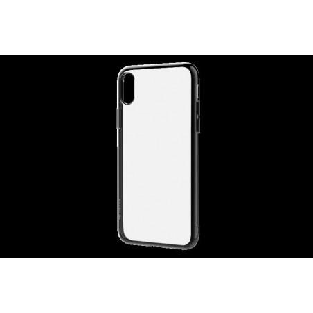 Cover Glitter Soft per iPhone X Nera