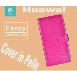 Custodia a Libro in Pelle Per Huawei G8 Rossa