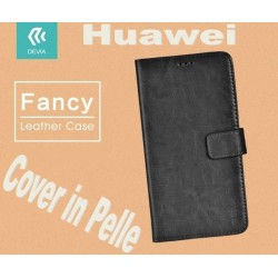 Custodia a Libro in Pelle Per Huawei P9 Plus Nera