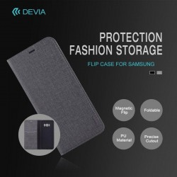 Cover a libro Flip Case per Huawei P8 lite Smart Nera