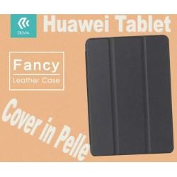 Custodia a Libro in Pelle Per Huawei T1-701U Nera