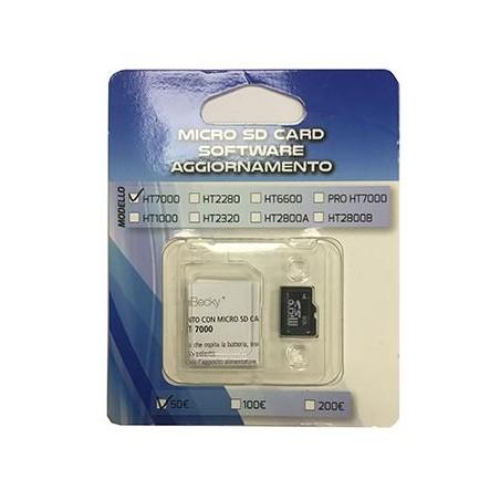 MICRO SD - AGGIORNAMENTO HT7000 ALLE NUOVE 100-200 EURO