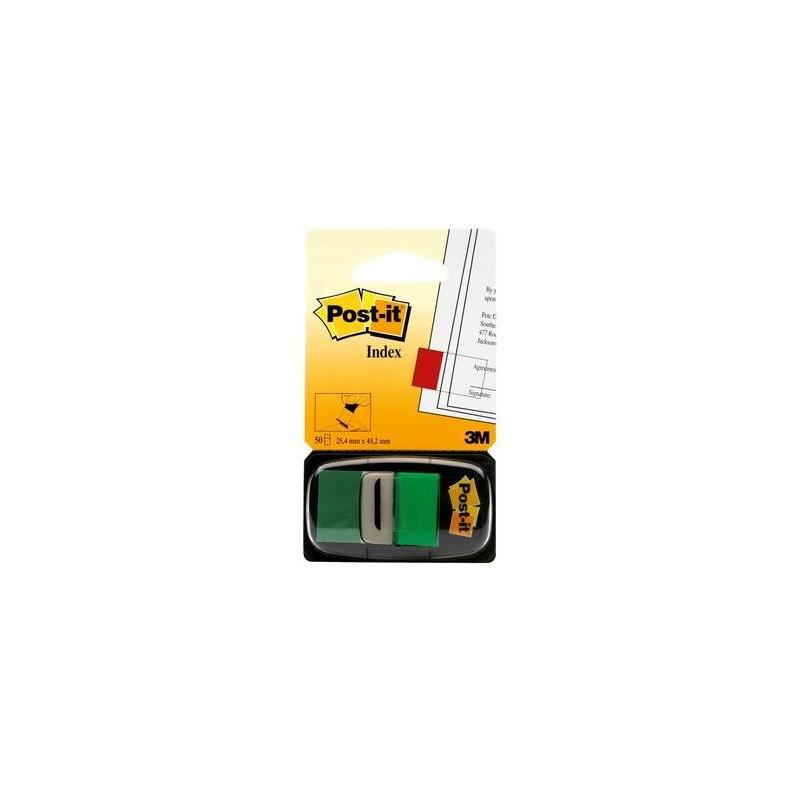 Post-it® Index Medium Verde - dispenser da 50 segnapagina