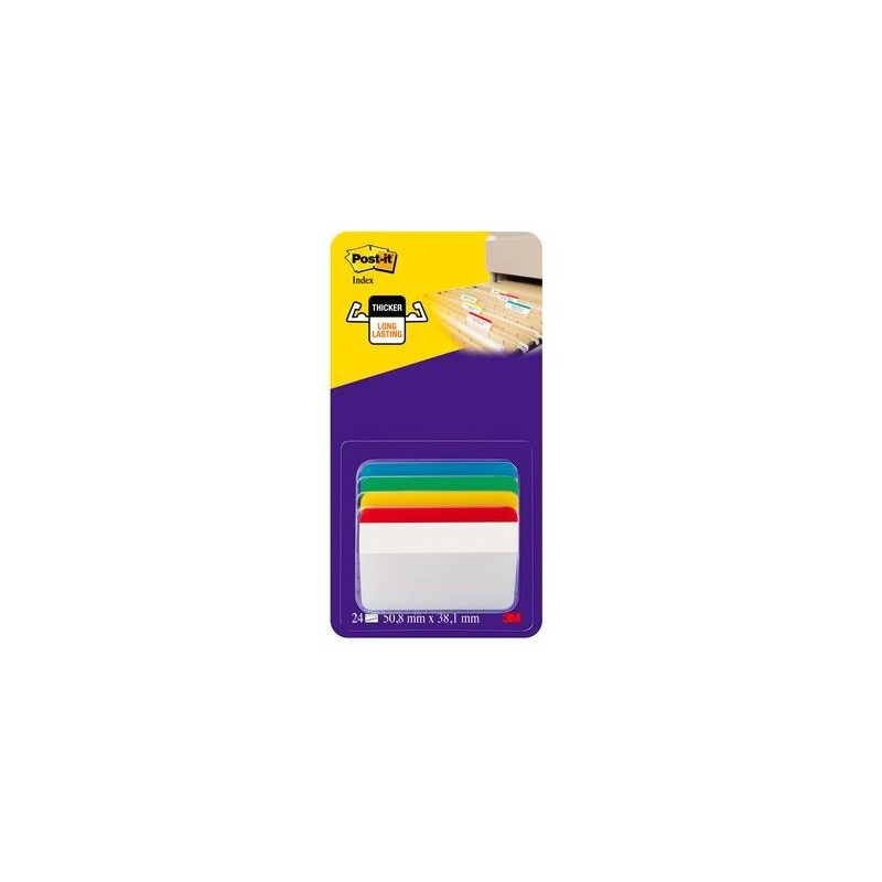 Post-it® Index Strong PER ARCHIVIO 4 colori classici assort