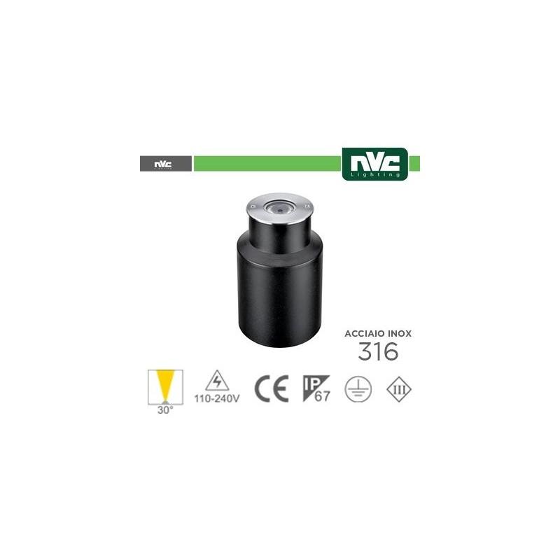 Segna Passo LED IP67 - 3000K 2.5W 65LM 30° Φ65 24V