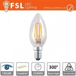 Lampada Filamento Oliva - 4W 2700K E14 400LM